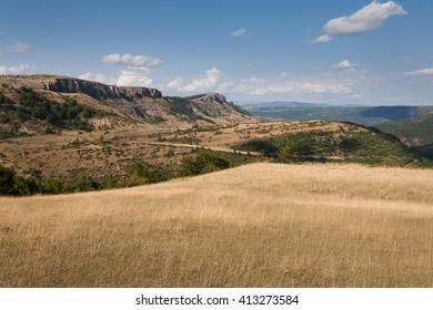 Landscape of Lozere, Causse Mejan, France
