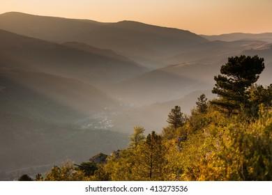 Landscape of Lozere, France