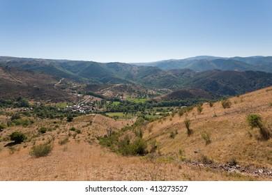 Landscape of Lozere, Les Bondons, France