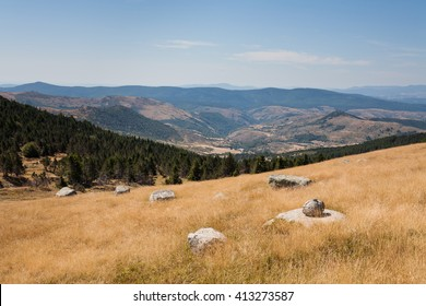 Landscape of Lozere, Mont Lozere, France