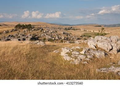 Landscape of Lozere, Nimes le Vieux, France