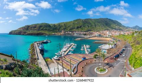 Landscape with Machico bay, Madeira Island, Portugal