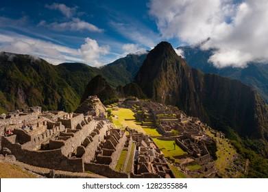 Landscape of Machu Picchu Remains at Peru