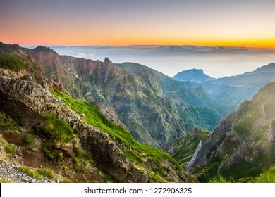 Landscape of madeira island - pico do arieiro