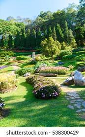 Landscape of Mae Fah Luang Garden, Chiang Rai, Thailand