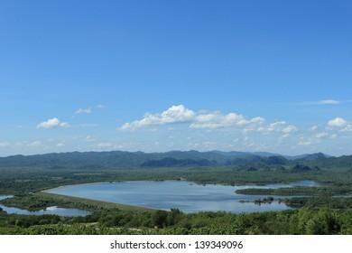 landscape mae kharm dam,Lampang,Thailand