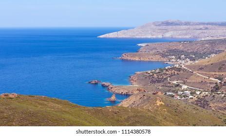Landscape of Mani peninsula, Laconia, Peloponnese, Greece.