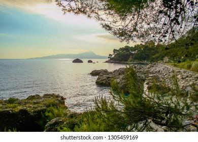 landscape of Maratea coastline Basilicata region, Italy