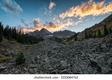 Landscape in the Maroon-Snowmass Wilderness in Colorado