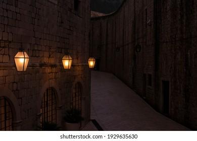 Landscape of medieval town in Dubrovnik Croatia