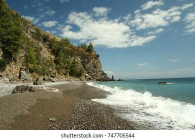 Landscape of Mediterranean beach