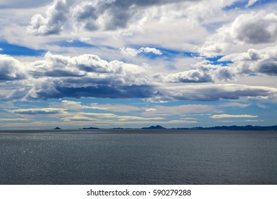 Landscape Mediterranean Sea, sky, clouds