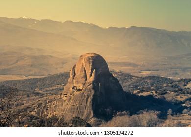 Landscape of Meteora in Greece.