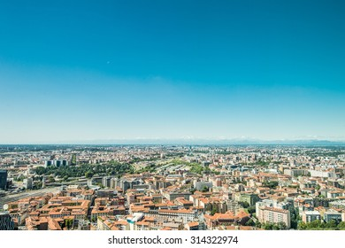 Landscape of Milan Italy