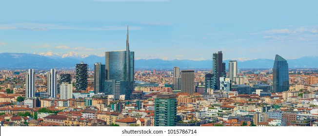 landscape milan skyline, italy