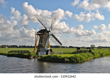 Landscape with a mill in The Netherlands.