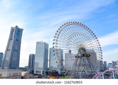 Landscape of Minato Mirai 21 area of Yokohama City in Kanagawa, Japan. Yokohama is the second largest city in Japan by population and most populous municipality.