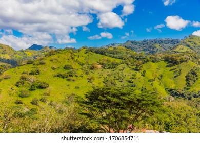 landscape of the Miraflor natural Reserve near Esteli in Nicaragua
