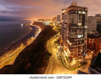 landscape of Miraflores, Lima, Peru