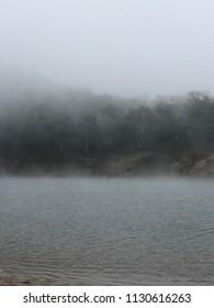 landscape misty background surreal