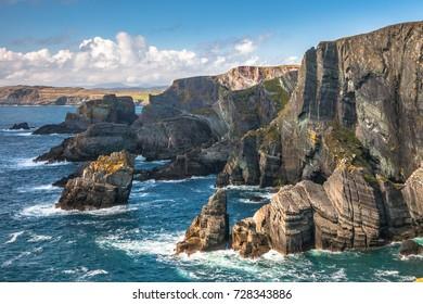 Landscape of Mizen Head cliffs on Atlantic coast, county Cork, Ireland