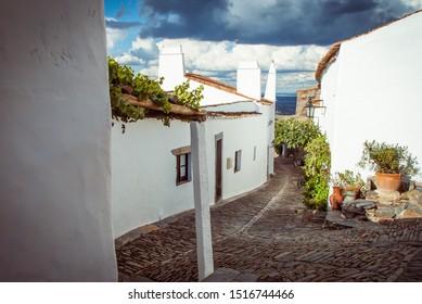 Landscape of Monsaraz town in Alentejo region in Portugal.