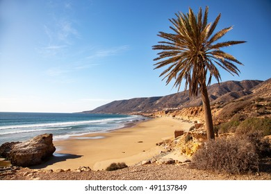 Landscape of Morocco - toward Taghazout near Agadir