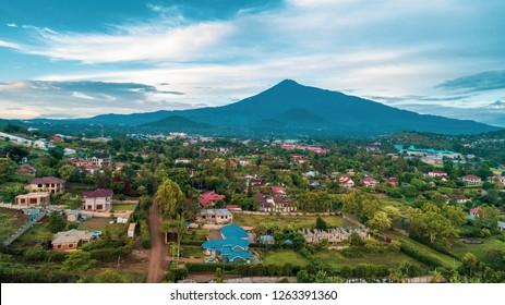 The landscape of Mount meru in Arusha, Tanzania