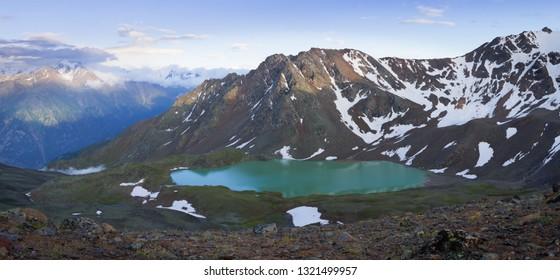 the landscape. mountain landscape with alpine lake