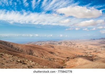 Landscape mountain fantasy Fuerteventura Canary islands, Spain