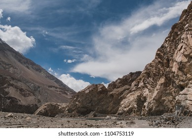 Landscape mountain and sky at Ladakh india