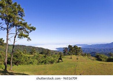 Landscape of mountain of Thailand.