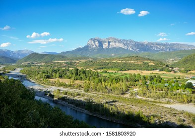 The landscape of mountains in Ainsa - Spain