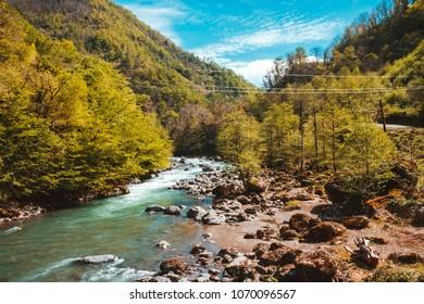 Landscape in the mountains, Ajara, Georgia.Caucasus
