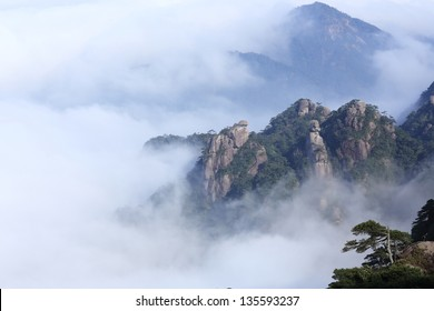 landscape of mountains of china