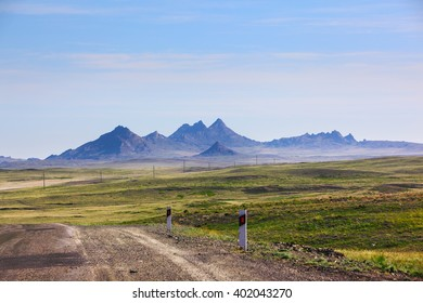 Landscape with mountains, Kazakhstan