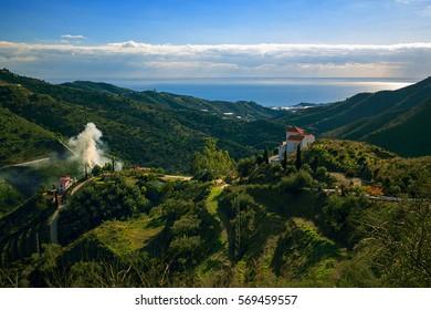 Landscape Mountains in Malaga, Spain