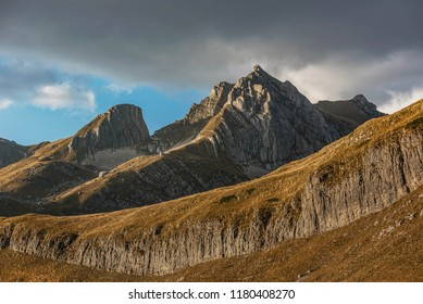Landscape with mountains in the National Park Durmitor, Montenegro