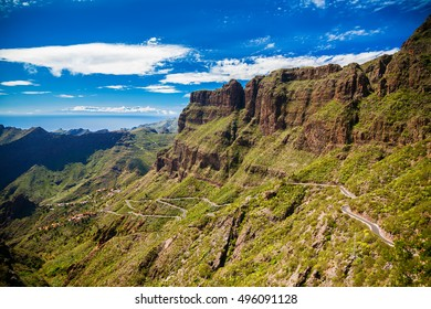 landscape with the mountains near Masca village, Tenerife, Canary Islands, Spain