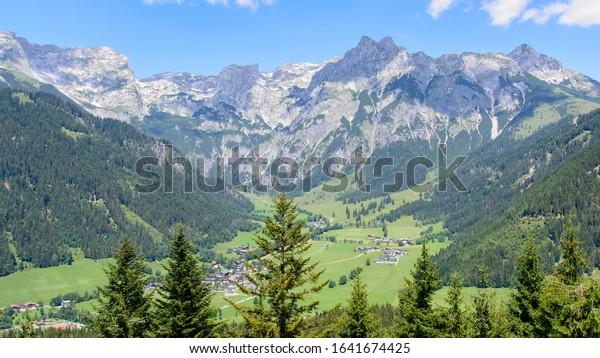 landscape in the mountains Werfenweng Austria