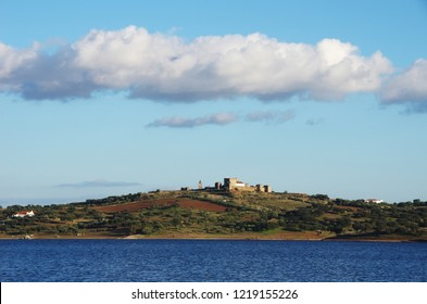 Landscape of Mourao village, south of Portugal