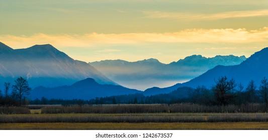 landscape murnauer moos - bavaria - germany