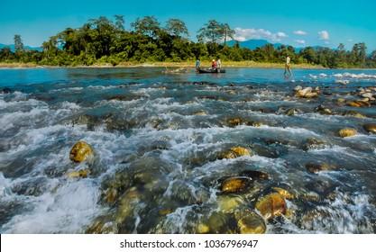Landscape of Nameri National Park, Assam, India.