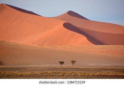 Landscape of  Namib-Naukluft National Park is a national park of Namibia encompassing part of the Namib Desert (considered the world's oldest desert) and the Naukluft mountain range.