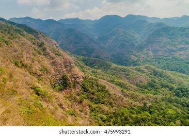 Landscape of national park El Imposible, El Salvador
