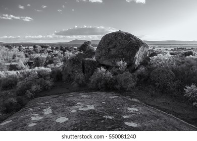 Landscape in the natural area of the Barruecos. Extremadura. Spain.