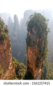 Landscape natural view of Zhangjiajie .The Hallelujah Mountains in Avatar were inspired by Heavenly Pillar in Zhangjiajie National Forest Park China - best famous place for travel
