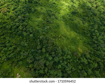 Landscape nature in Thailand. Aerial view landscape from flying drone over mountain in Phu Thap Boek Phetchabun Province Thailand.