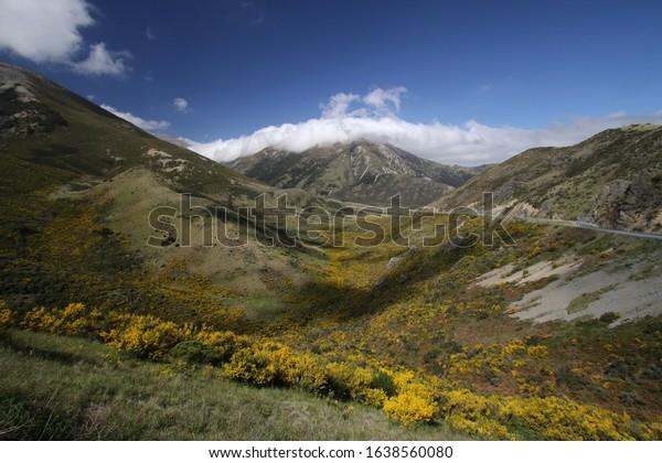 Landscape near Hatcher pass, Alaska on a sunny day