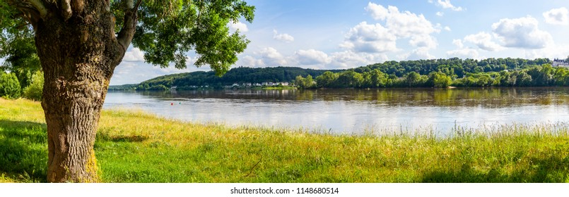 Landscape near Saint-Martin-de-la-Place, Pays de la Loire, France